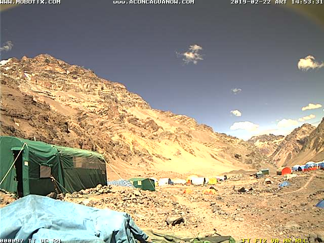 WEBCAM CAMP BASE ACONCAGUA